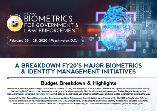 Biometrics for Government and Law Enforcement - Budget Breakdown