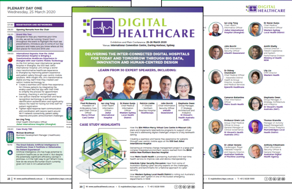 Australian Healthcare Week 2020 Digital Healthcare Summit Agenda