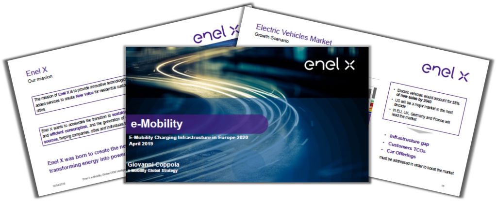 Past Presentation by Enel X on E-Mobility: Global Challenges and EU Focus