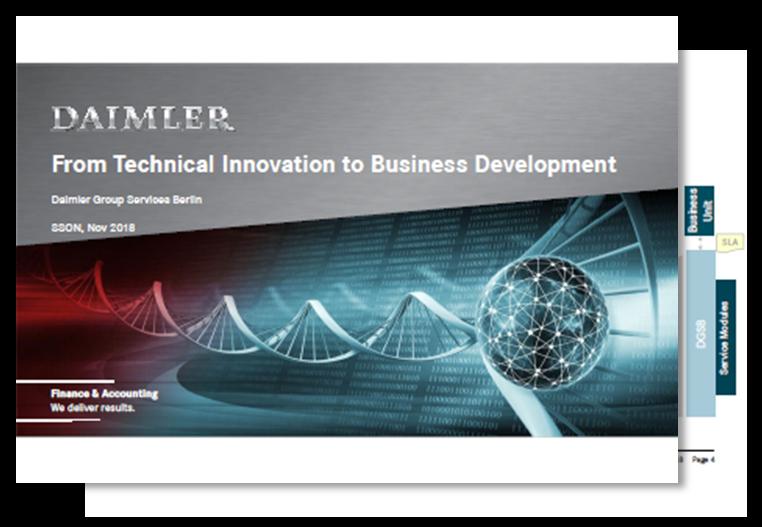 Präsentation: Wie hat die Daimler Group RPA als technische Innovation genutzt?