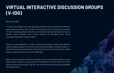 Virtual Interactive Discussion Group Prospectus