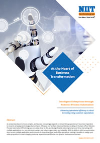 Intelligent enterprises through robotics process automation