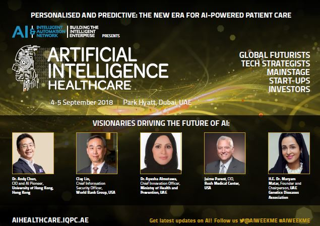 Artificial Intelligence Week – Healthcare: Agenda