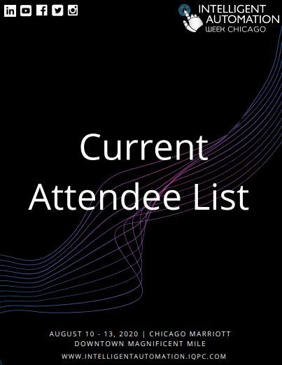 IA Week 2020 Current Attendee List