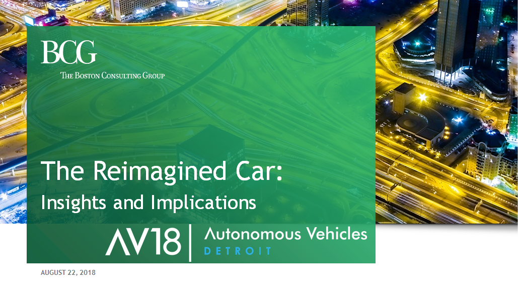 BCG on the Reimagined Car: Insights & Implications