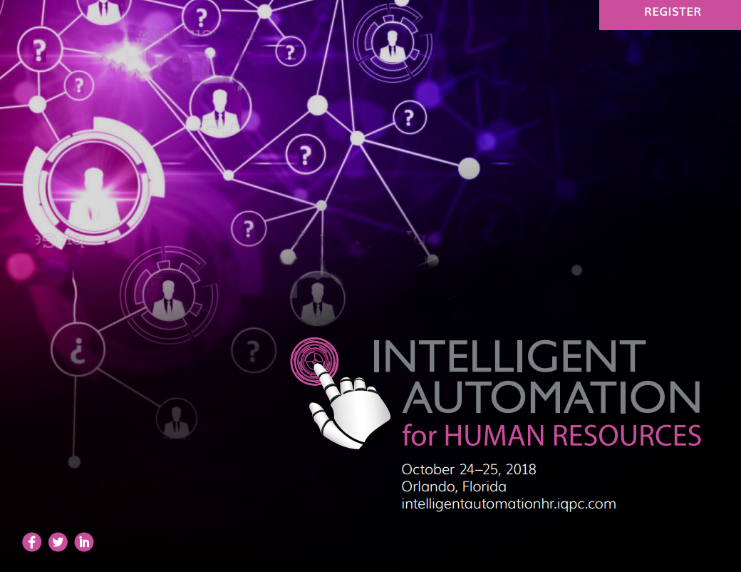 Intelligent Automation For HR - Access the Agenda!