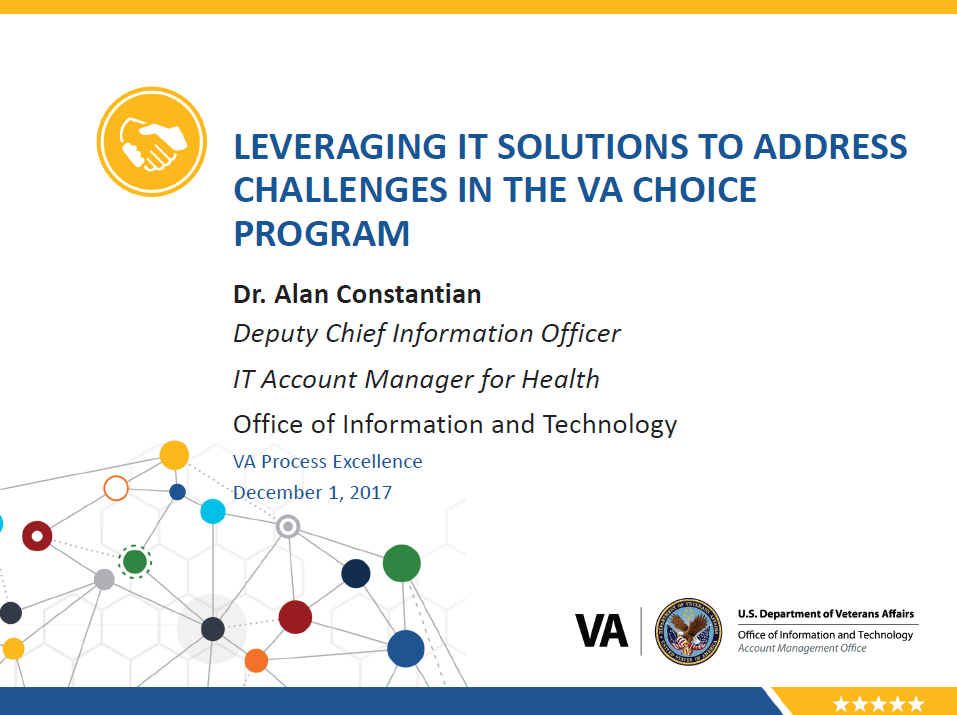 Leveraging IT Solutions to Address Challenges in the VA Choice Program