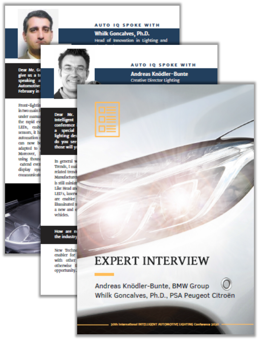 BMW and PSA Group Expert Interview on New Automotive Lighting Technologies