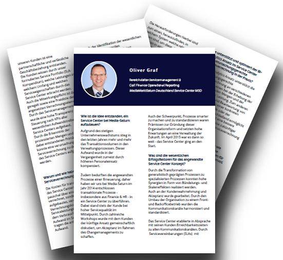 Interview mit Herrn Graf, Bereichsleiter Servicemanagement und CoE Finance Operational Reporting