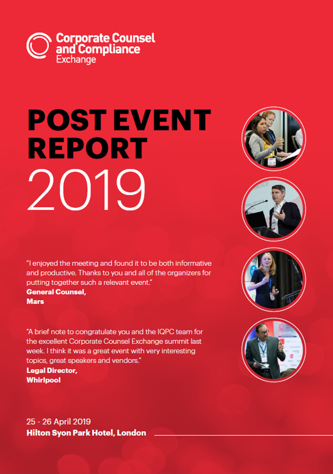 Corporate Counsel & Compliance Exchange UK 2019 Post-Event Report