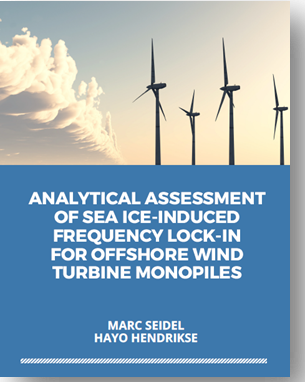 Paper on analytical assessment of sea ice-induced FLI for offshore wind turbine monopiles