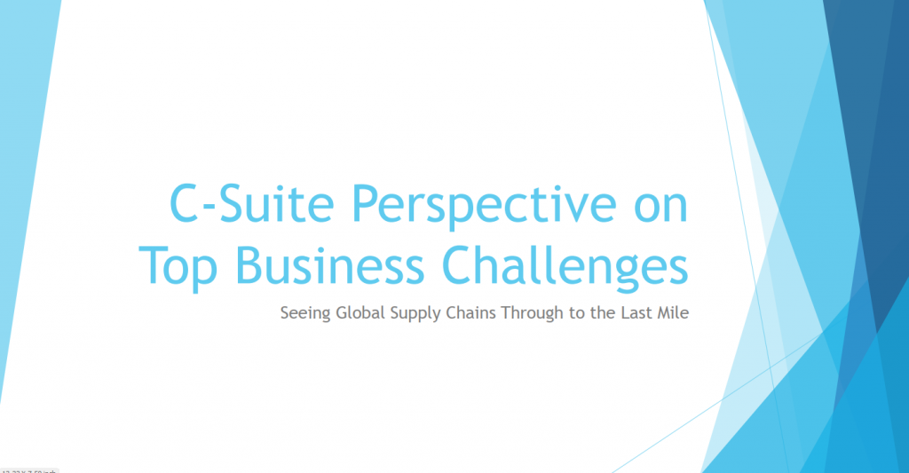 The C-Suite Perspective's on Top Supply Chain Initiatives