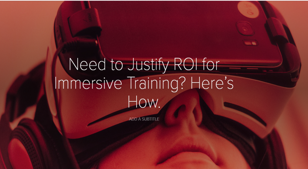 EBook - Need to Justify ROI for Immersive Training? Here's How.