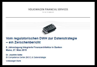Präsentation: Datenstrategie der Volkswagen Bank