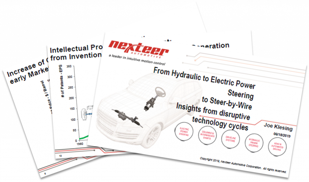 Nexteer Presentation: From Hydraulic to Electric Power Steering to Steer-by-Wire