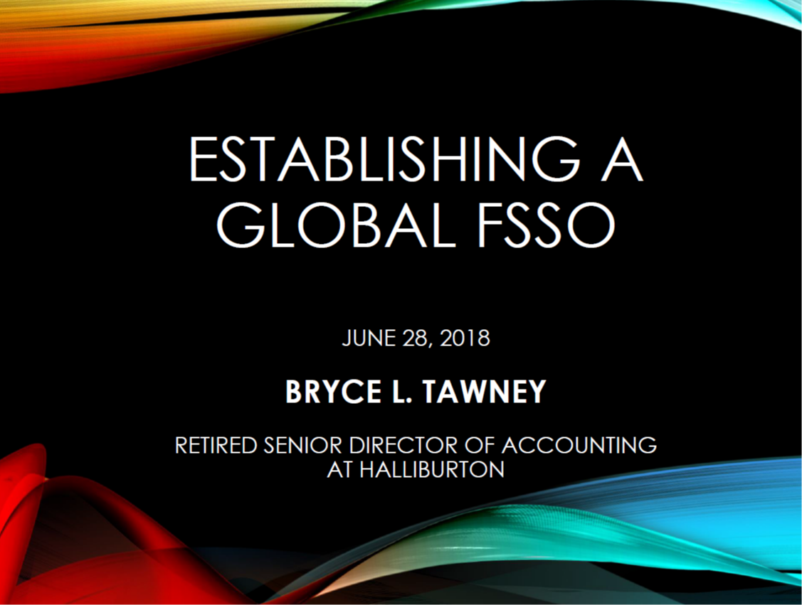 Establishing a Global FSSO