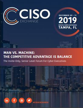 2019 Cyber Security Exchange Agenda Brochure