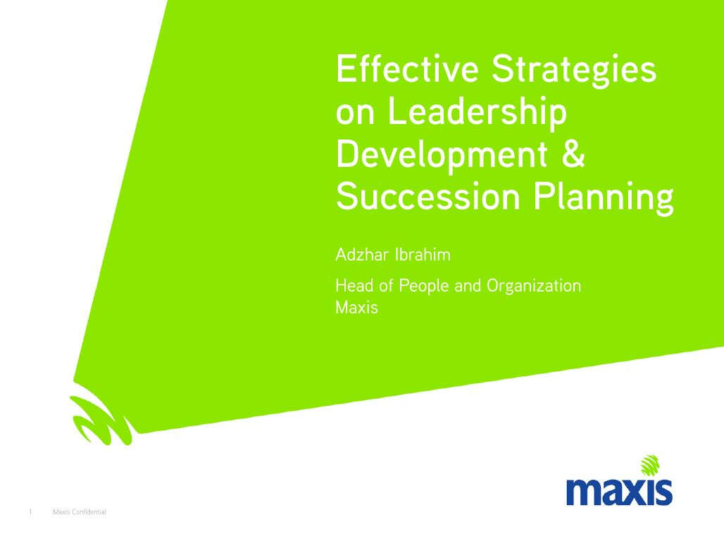 Download the Past Presentation - Effective Strategies on Leadership Development & Succession Planning