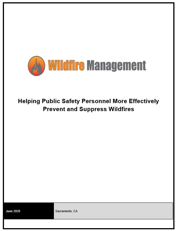 Wildfire Management 2020 Preliminary Agenda