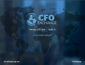 NEW! CFO Exchange February 2018 Post Event Report