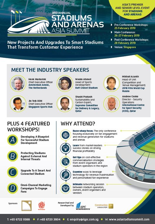 View Agenda - 3rd Stadiums and Arenas Asia Summit 2019