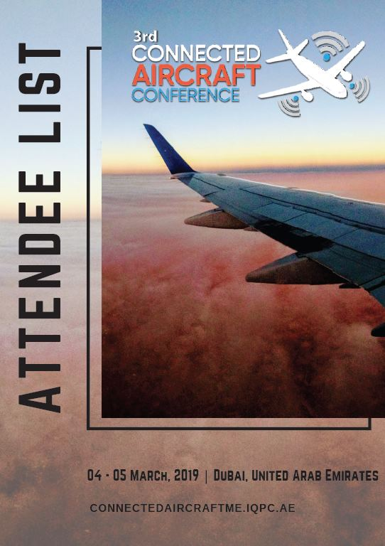 Connected Aircrafts Conference - Attendee List