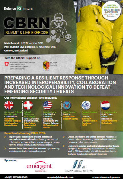 Download the Agenda l CBRN (Chemical, Biological, Radiological and Nuclear) Summit