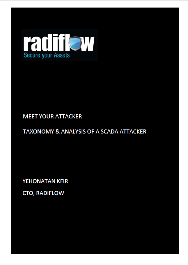 Meet Your Attacker: SCADA Attackers Taxonomy and Analysis