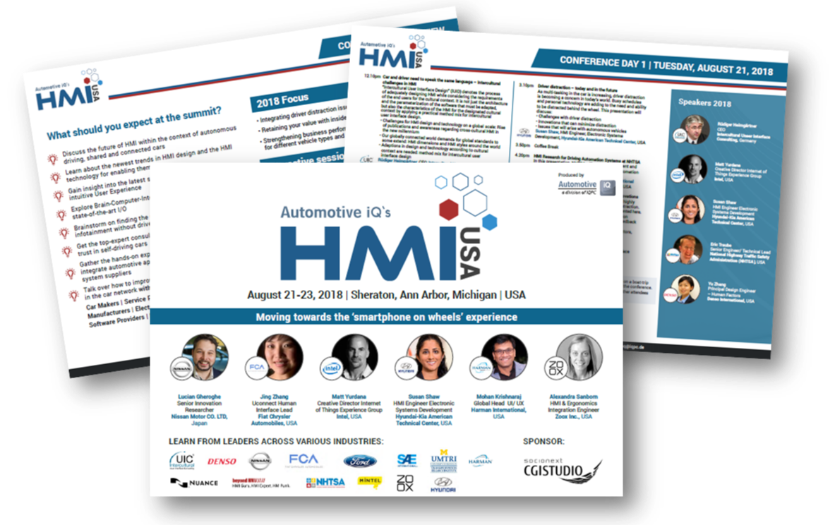 5th Annual Cockpit HMI 2018 Conference Agenda