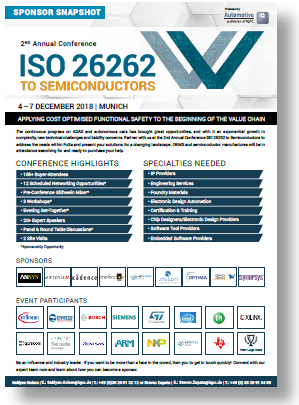 Partner Content - ISO 26262 Semiconductors Event & Sponsorship Snapshot