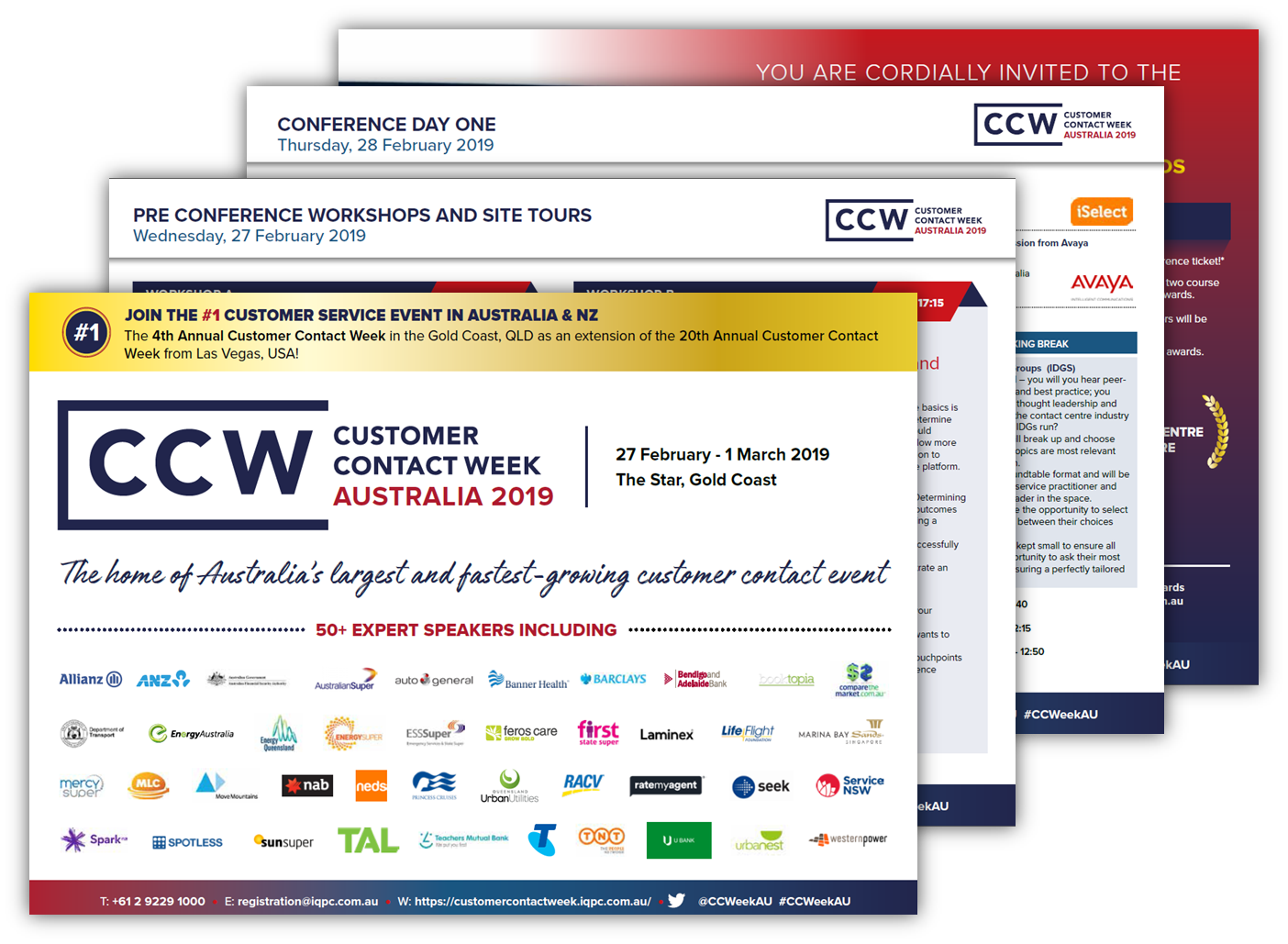 Customer Contact Week 2019: Agenda