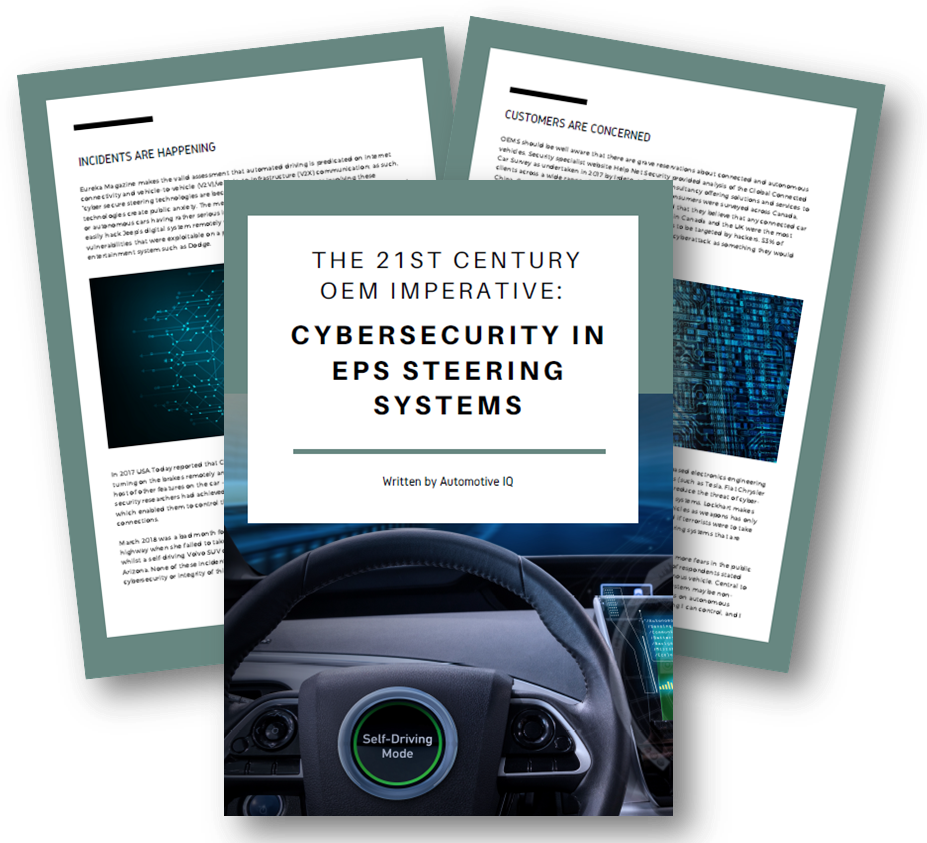 Cybersecurity in EPS Steerings Systems