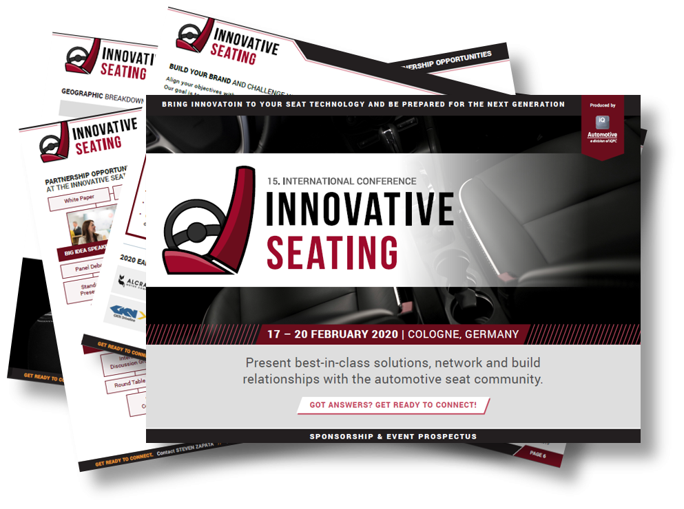 Partner Content - Get Ready to Connect. Innovative Seating!