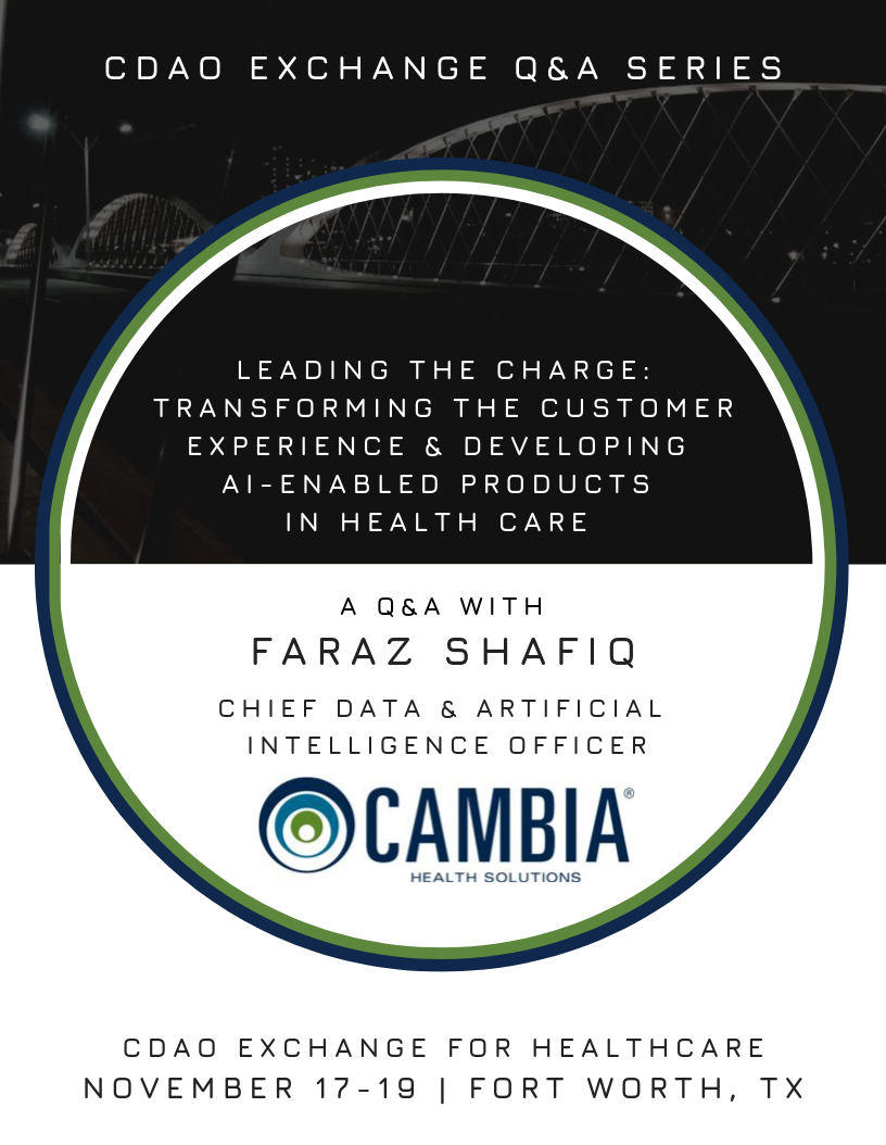 NEW: Transforming Customer Experience & Developing AI-Enabled Products at Cambia Health Solutions