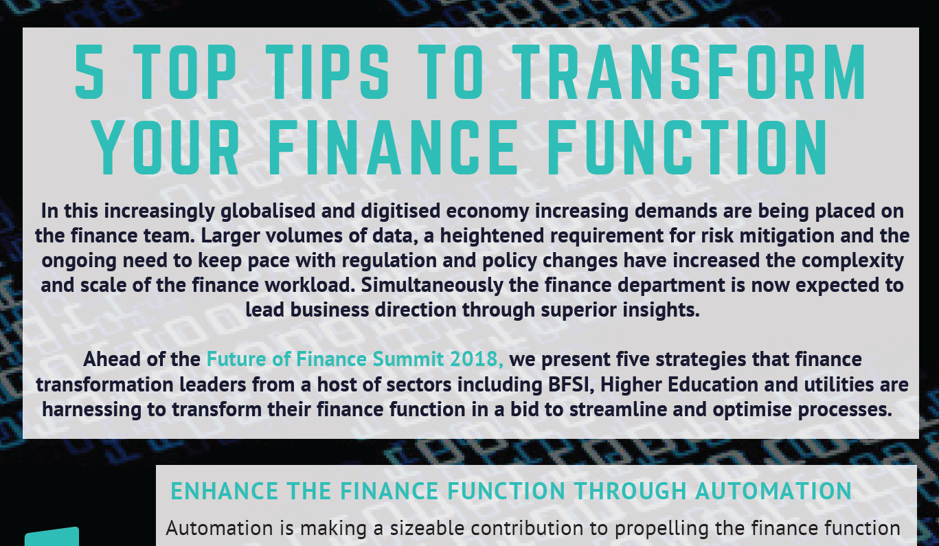 Five Ways to Transform your Finance Function for Success