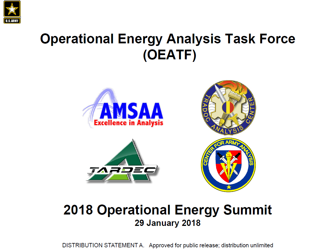 Operational Energy Impact Analysis on Mission and Sustainment Effectiveness