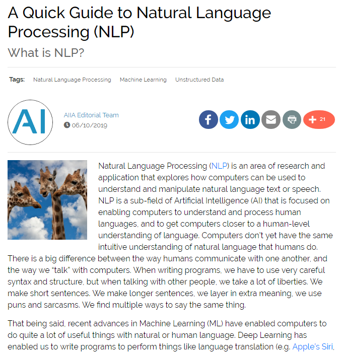 A Quick Guide to Natural Language Processing (NLP)