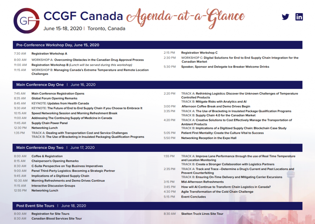 View your Event Guide - 18th CCGF Canada