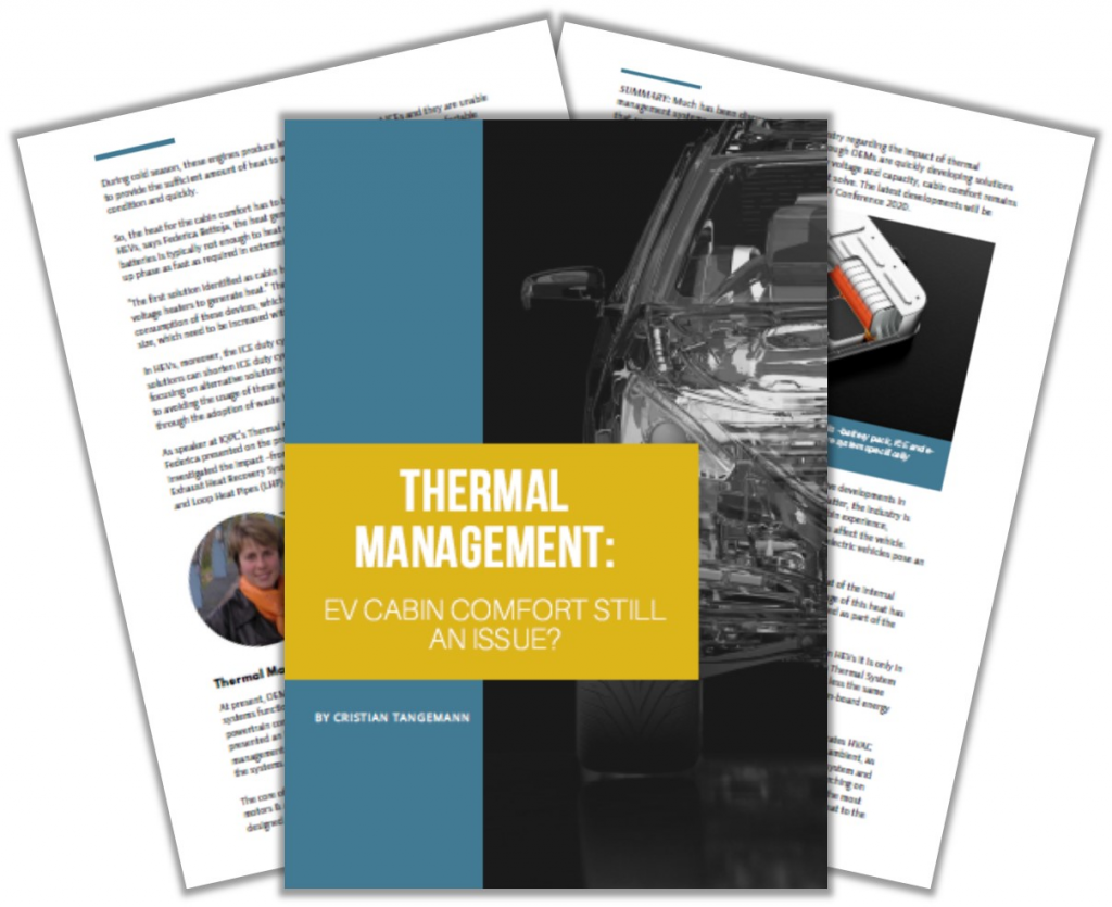 Report on Thermal Management: EV Cabin Comfort Still an Issue?