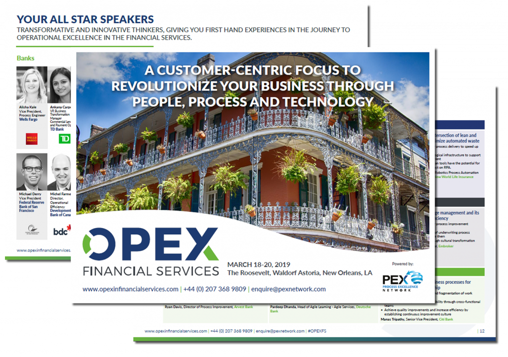 OPEX in Financial Services Event Brochure
