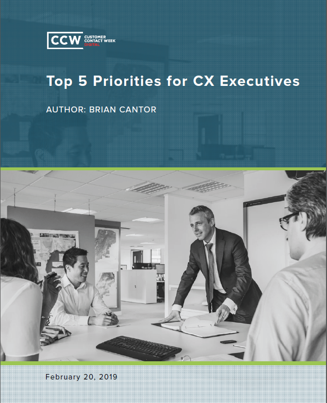 Top Five Priorities for CX Executives