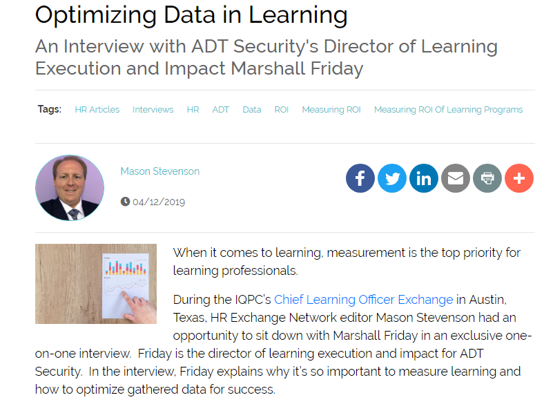 Optimizing Data in Learning: An Interview with ADT Security's Director of Learning Execution and Impact