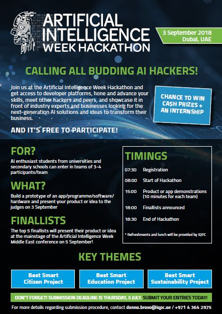 Artificial Intelligence Hackathon is now open for registration!