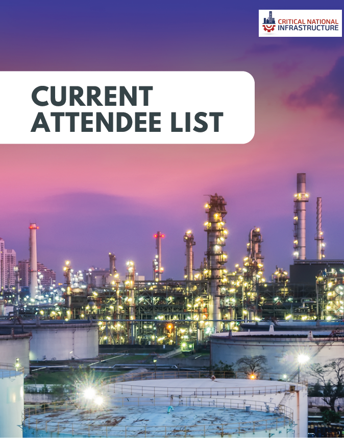 Critical National Infrastructure 2019: Current Attendee List for Sponsorship