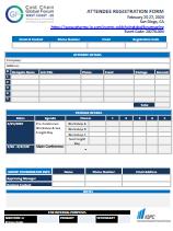 Registraion Form - CCGF West Coast