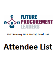 Future Procurement and Supply Chain Leaders - Attendee List