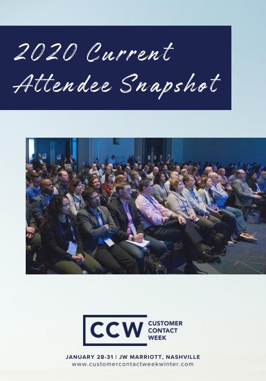 CCW Nashville 2020 Current Attendee Snapshot
