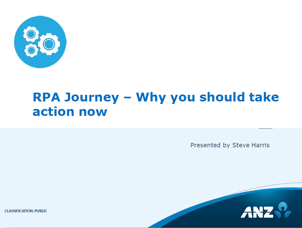 RPA Journey –Why you should take action now