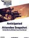 Anticipated Attendee Snapshot: 2018 Special Operations Nexus