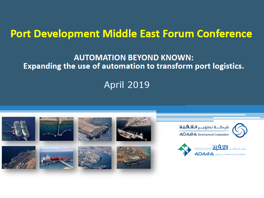 Expanding the use of automation to transform port logistics by Aqaba Corporation